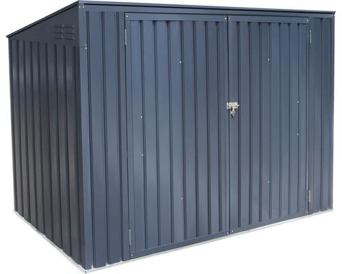 Mülltonnenbox für 3 Mülltonnen inkl. Gasdruckfedern 235x100x131 cm anthrazit