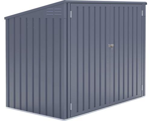 Mülltonnenbox für 2 Mülltonnen inkl. Gasdruckfedern 172x100x131 cm anthrazit