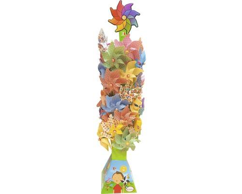 Windrad mit Holzstab Ø 32 H 76 cm, zufällige Farbauswahl