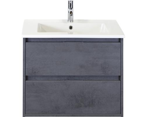Badmöbel-Set porto 70 cm mit Keramikwaschtisch Beton anthrazit