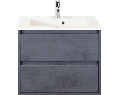 Badmöbel-Set Porto 70 cm mit Waschtisch Beton anthrazit