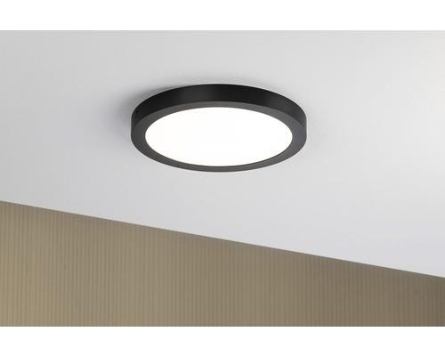 LED Deckenleuchte 22W 2200 lm 2700 K warmweiß rund HxØ 30x300 mm Abia schwarz 1-flammig