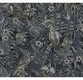 Vliestapete 37210-4 Greenery Vliestapete schwarz weiß Papagei