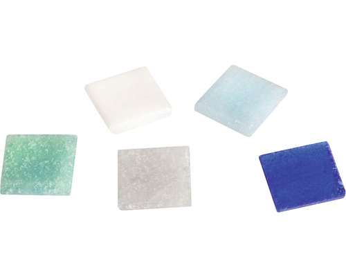 Mosaiksteine ca 325 Stück 2x2cm blau weiss