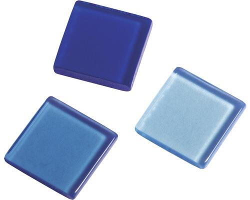 Acryl-Mosaik, 1x1 cm, transparent, blau