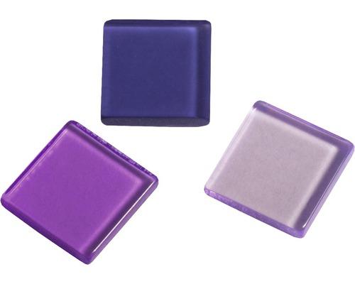 Acryl-Mosaik, 1x1 cm, transparent, violett