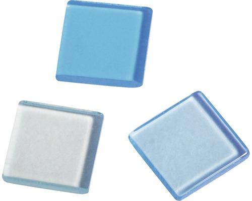 Acryl-Mosaik, 1x1 cm, transparent, hellblau