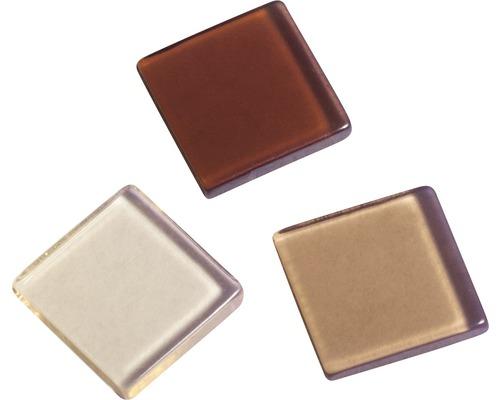 Acryl-Mosaik, 1x1 cm, transparent, beige