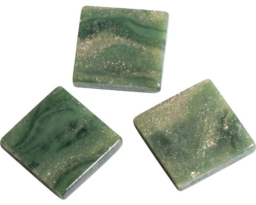 Acryl-Mosaik, 1x1cm, marmor, grün