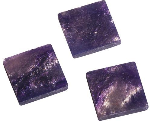 Acryl-Mosaik, 1x1cm, marmor, violett