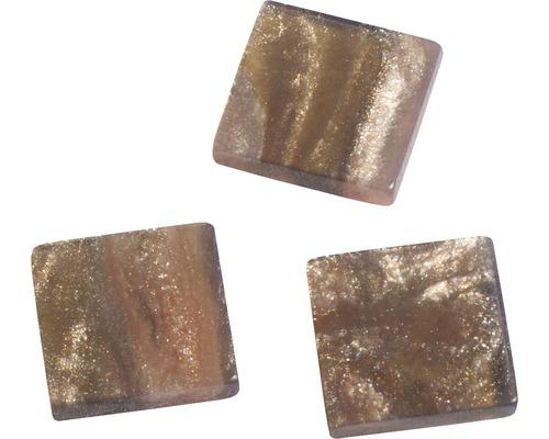 Acryl-Mosaik, 1x1cm, marmori, gold
