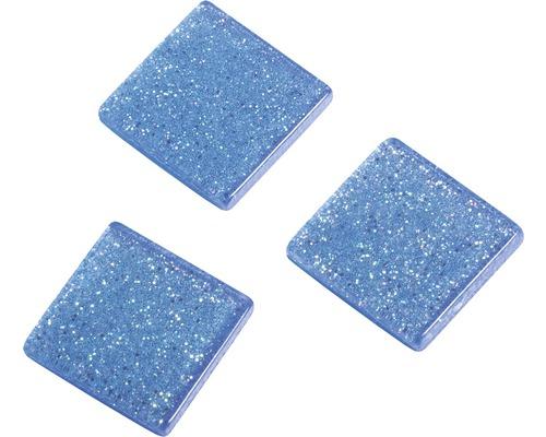 Acryl-Mosaik, 1x1 cm, Glitter, blau