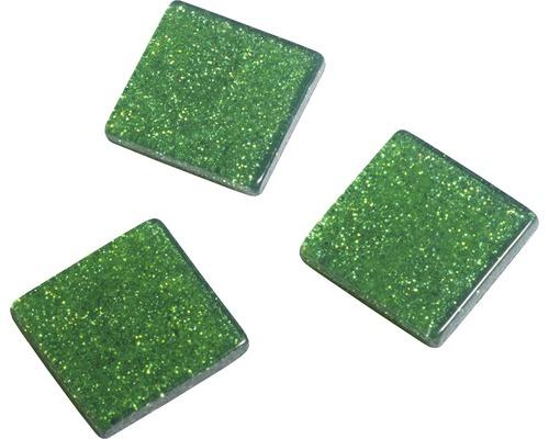 Acryl-Mosaik, 1x1 cm, Glitter, grün