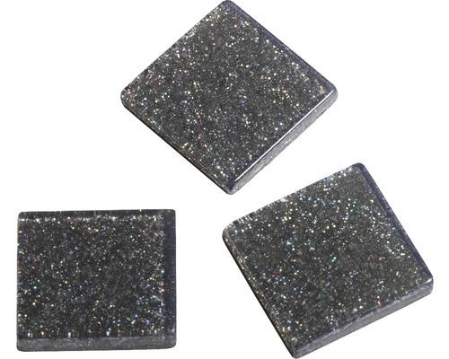 Acryl-Mosaik, 1x1 cm,Glitter, grau