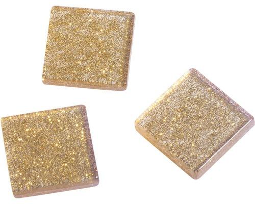 Acryl-Mosaik, 1x1 cm,Glitter, gold