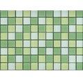 Glasmosaik XCM 8488 30,5x32,5 cm gelb/grün/weiß