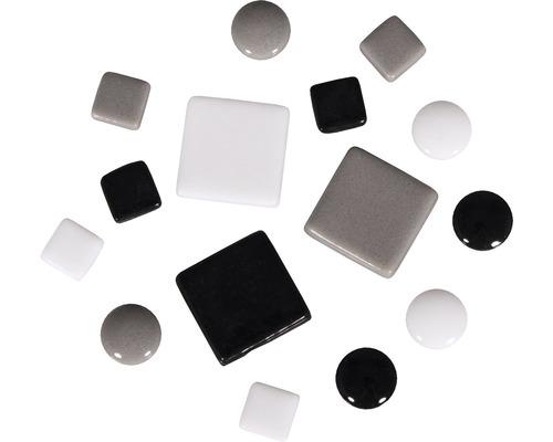 Mosaiksteine-Mischung, schwarz weiß