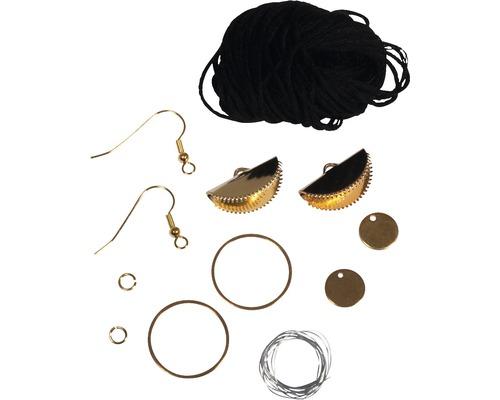 Boho-Ohrringe Halbmond, 2 Stück, schwarz