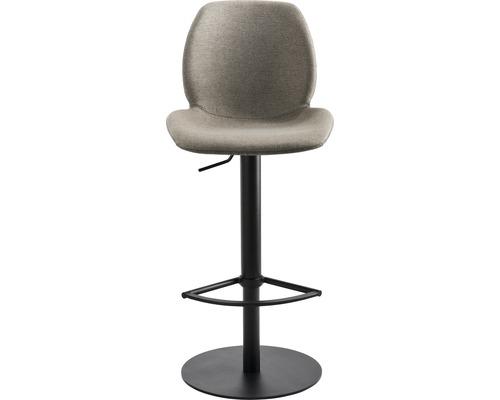 Barhocker Mayer Sitzmöbel myMarco 1276-03-526 42x46x84,5-109,5 cm Gestell schwarz Sitz lichtgrau/muschelgrau-meliert