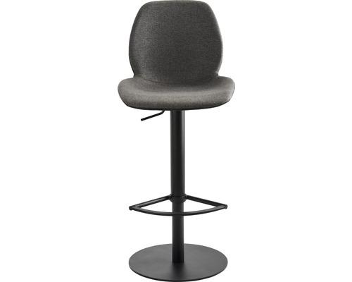 Barhocker Mayer Sitzmöbel myMarco 1276-03-524 42x46x84,5-109,5 cm Gestell schwarz Sitz schwarz/anthrazit-meliert