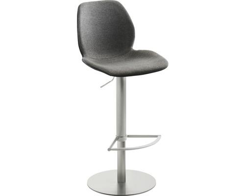 Barhocker Mayer Sitzmöbel myMarco 1276-04-524 42x46x84,5-109,5 cm Gestell edelstahl Sitz schwarz/anthrazit-meliert