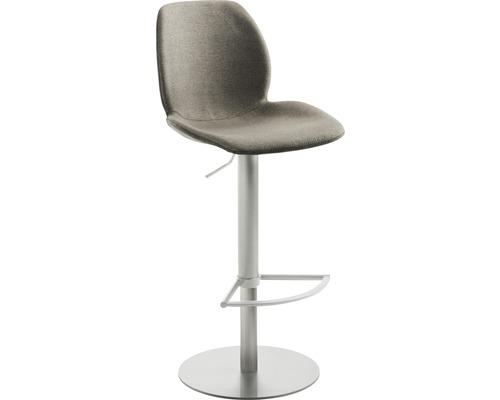 Barhocker Mayer Sitzmöbel myMarco 1276-04-526 42x46x84,5-109,5 cm Gestell edelstahl Sitz lichtgrau/muschelgrau-meliert