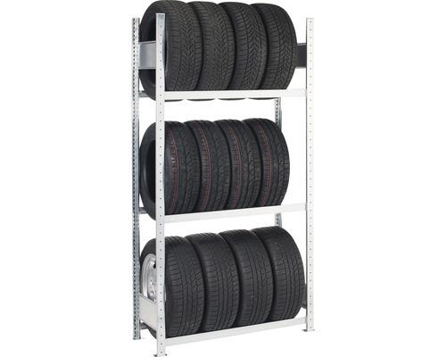 Reifenregal Schulte Grundregal verzinkt 2000x1150x400 mm 3 Ebenen Tragkraft 450 kg