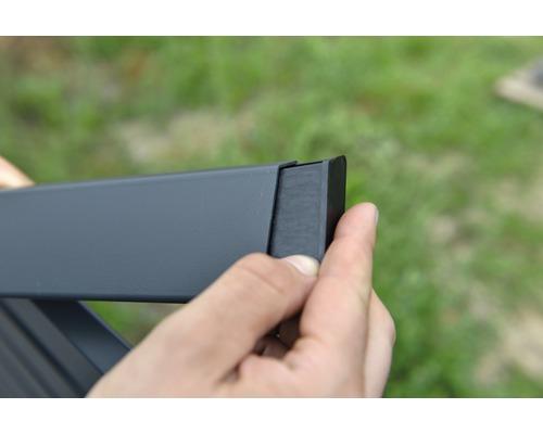 Endkappe links für Alu-Cladding Osmo Rhombus Profil