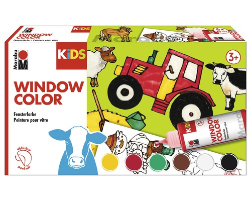 Marabu KiDS Window Color Farmer 6 x 80ml