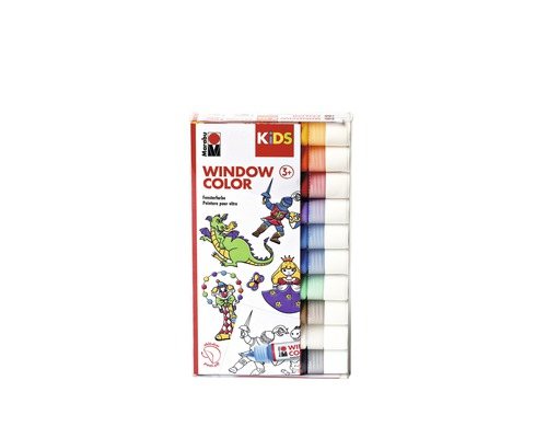 Marabu KiDS Window Color sortiert 10x 25ml
