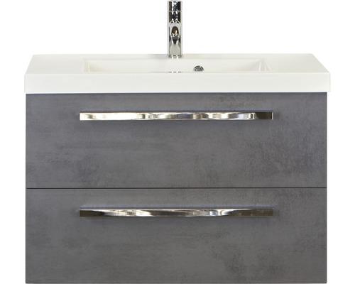 Badmöbel-Set Seville 80 cm mit Waschtisch Beton anthrazit