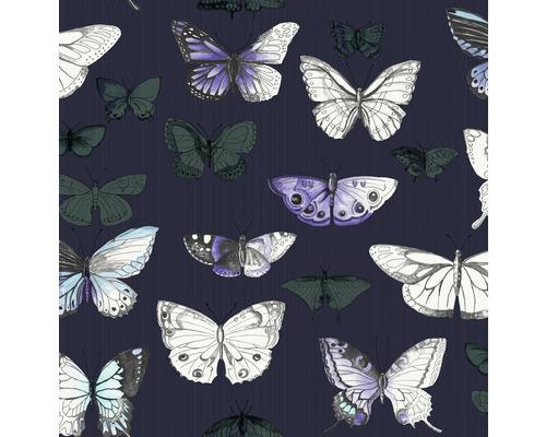 Vliestapete 108228 Schmetterlinge blau holografisch