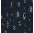Vliestapete 108229 Käfer blau holografisch