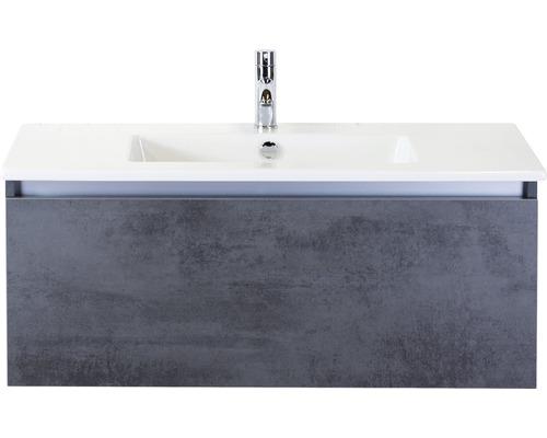 Badmöbel-Set Frozen 100 cm mit Keramikwaschtisch Beton anthrazit