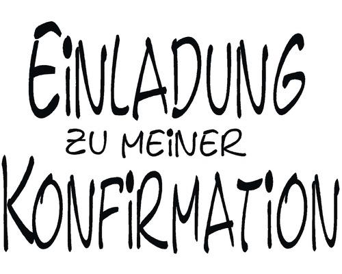 """H.- Stempel """"Einladung zur Konfirmatirmation"""""""