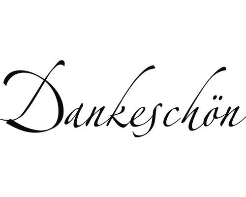 """H.- Stempel """"Dankeschön"""", 3x7cm"""