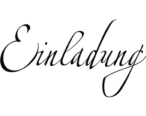 "H.- Stempel ""Einladung"", 4x7cm"