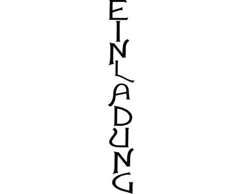 "H.- Stempel ""Einladung"", 3x10cm"