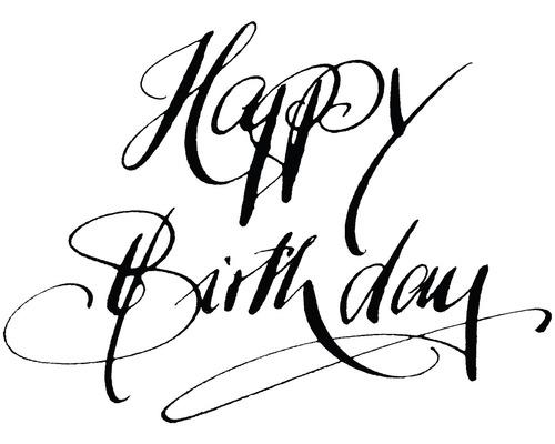 "H.- Stempel ""Happy Birthday"", 6x8cm"