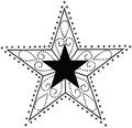 H.- Stempel Stern, 6x6cm