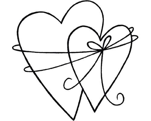 H.- Stempel In Liebe verbunden, 5x5cm
