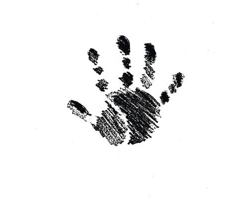 H.- Stempel Hand links, 3,2cm ø