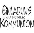 """H.- Stempel """"Einladung z. Kommunion"""""""