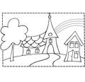 Stempel Kirche, 7x10cm