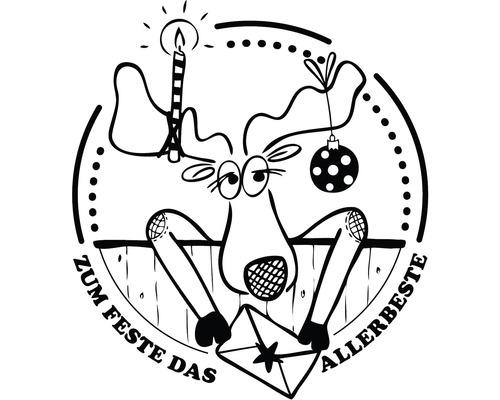 "Stempel ""Das Allerbeste"", 7x7cm"