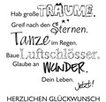 "Stempel ""Lebe Dein Leben"", 7x7cm"