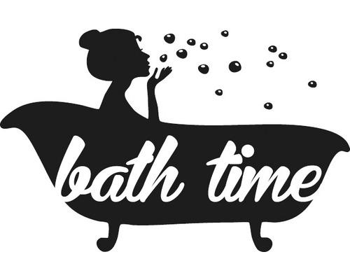 """Stempel """"bath time"""", 4x6cm"""