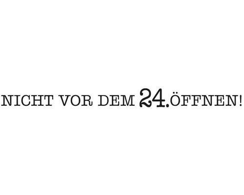 """Statement-Stempel """"Nicht vor dem 24. öffnen"""""""