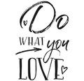 "Stempel ""Do WHAT you LOVE"", 7x10cm"