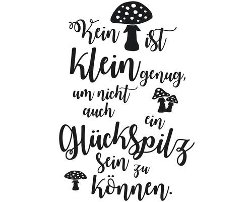 """Stempel """"Glückspilz"""", 7x10cm"""